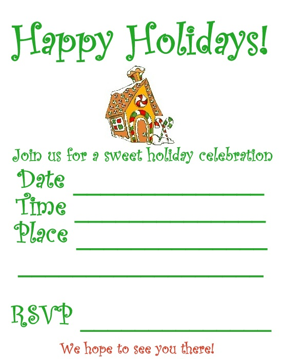 Printable Holiday Invitations – Printable Christmas Party Invitation