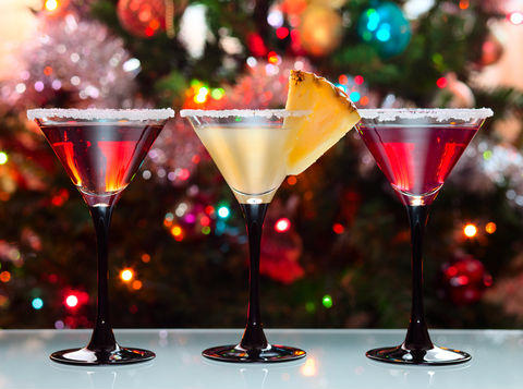 Colorful Drinks at Christmas Party