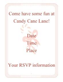 candy cane invite