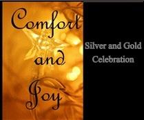 silver and gold invite