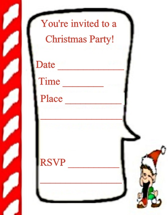 elf christmas party invitation
