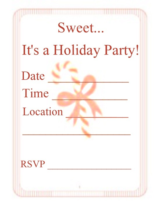 Christmas Party Invitations – Christmas Party Printable Invitations