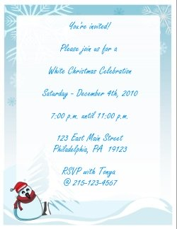 white christmas party invitations
